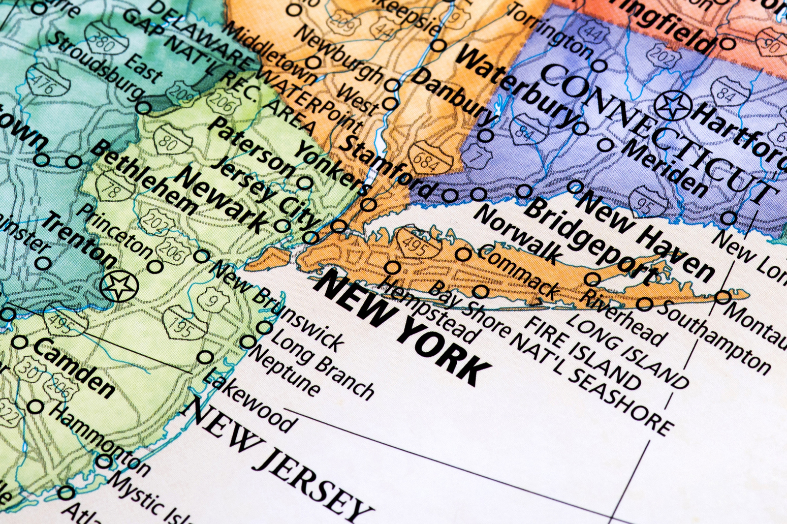 Map Of New York New Jersey And Connecticut.State And Local Tax Roundup The Cpa Journal